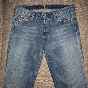 EUC 7 for all Mankind Cropped Bootcut Jeans Sz 28.